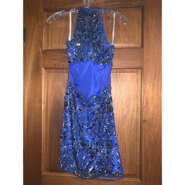 Sherri Hill Blue Size 2 Homecoming Straight Dress on Queenly