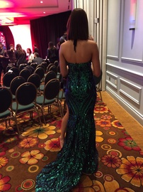 Fernando Wong Green Size 2 Pageant Mermaid Dress on Queenly
