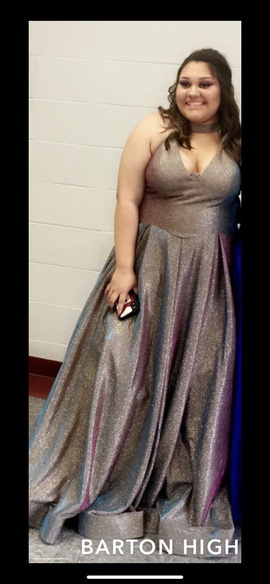 Queenly size 16  Multicolor Ball gown evening gown/formal dress