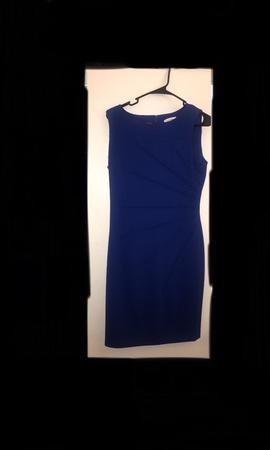Calvin Klein Blue Size 8 A-line Dress on Queenly