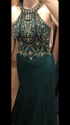 Queenly size 2  Green Mermaid evening gown/formal dress