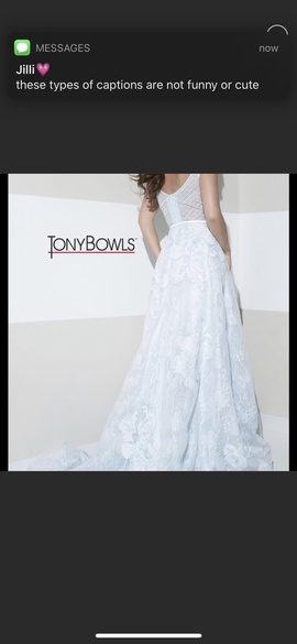 Tony Bowls Blue Size 0 Medium Height Ball gown on Queenly