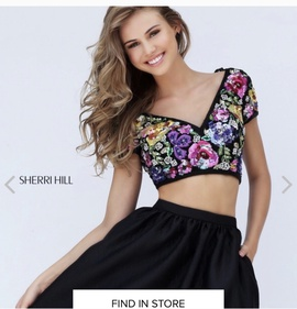 Sherri Hill Multicolor Size 6 Homecoming Two Piece Cocktail Dress on Queenly