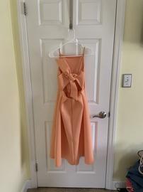 Asos Orange Size 4 Mini Medium Height Ball gown on Queenly