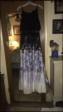 David's Bridal Black Size 12 Prom Davids Bridal Two Piece Plus Size Ball gown on Queenly