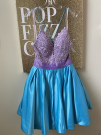 Queenly size 8 Angela and Alison Multicolor Cocktail evening gown/formal dress