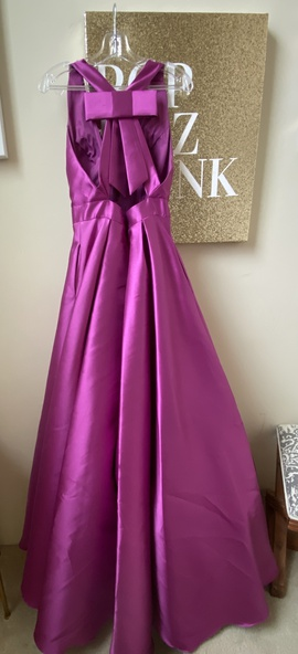 Jovani Purple Size 8 Prom Plunge Ball gown on Queenly