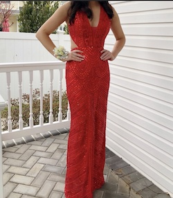Sherri Hill Red Size 00 Prom Plunge Train Tall Height Straight Dress on Queenly