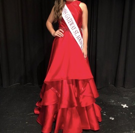 Mac Duggal Red Size 2 Ruffles Ball gown on Queenly