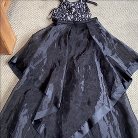 Queenly size 4  Black Train evening gown/formal dress