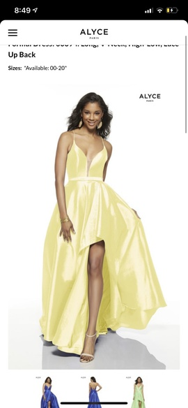 Alyce Paris Yellow Size 4 A-line Dress on Queenly