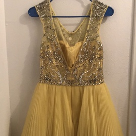 Sherri Hill Yellow Size 8 Cocktail Dress on Queenly