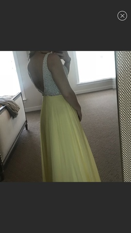 Sherri Hill Yellow Size 2 Medium Height Ball gown on Queenly