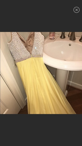 Queenly size 2 Sherri Hill Yellow Ball gown evening gown/formal dress