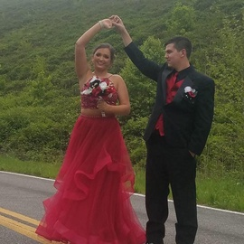 Jovani Red Size 10 Ball gown on Queenly