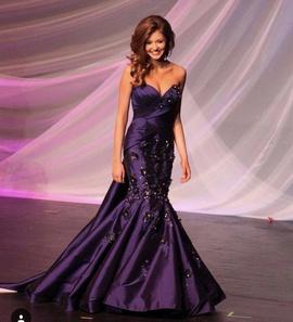Fernando Wong Purple Size 00 Train Sequin Mermaid Dress on Queenly
