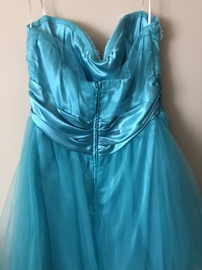 de Blue Size 14 Homecoming Plus Size A-line Dress on Queenly