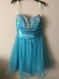 Queenly size 14 de Blue A-line evening gown/formal dress