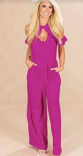 Queenly size 2  Pink Romper/Jumpsuit evening gown/formal dress
