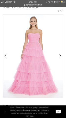 Queenly size 2 Ashley Lauren Pink Ball gown evening gown/formal dress