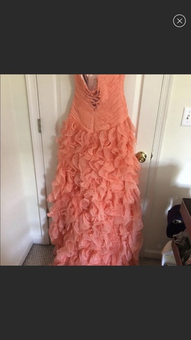 Mac Duggal Orange Size 4 Prom Sweetheart Strapless Ball gown on Queenly