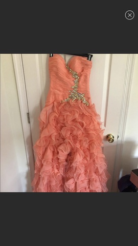 Queenly size 4 Mac Duggal Orange Ball gown evening gown/formal dress