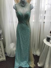 Queenly size 2 Tony Bowls Blue Straight evening gown/formal dress