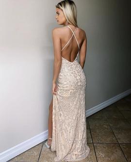 Primavera Pink Size 4 Side slit Dress on Queenly