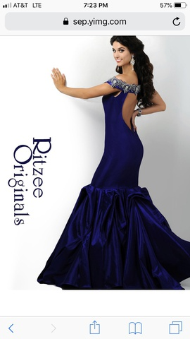 Ritzee Purple Size 6 Mermaid Dress on Queenly