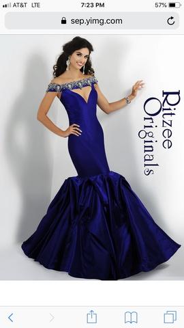 Queenly size 6 Ritzee Purple Mermaid evening gown/formal dress