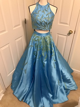 Queenly size 2 Blush Blue Ball gown evening gown/formal dress