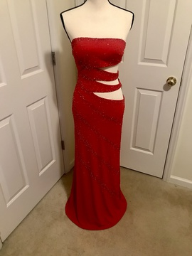 Precious Formals Red Size 4 Medium Height Straight Dress on Queenly
