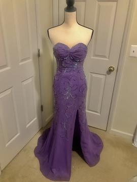 Purple Size 2 Side slit Dress on Queenly