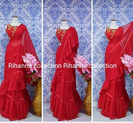 Rihanna Collection Red Size 6 Flare Straight Dress on Queenly