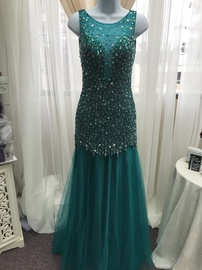 Queenly size 2 Milano Formals Green Mermaid evening gown/formal dress