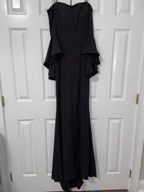 Faviana Black Size 0 Side Slit Straight Dress on Queenly