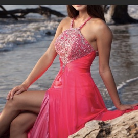 Mac Duggal Pink Size 0 Medium Height Side slit Dress on Queenly