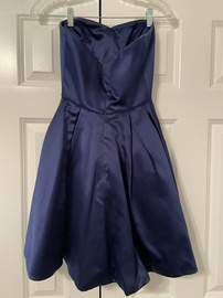 Sherri Hill Blue Size 0 Sweetheart Medium Height Cocktail Dress on Queenly