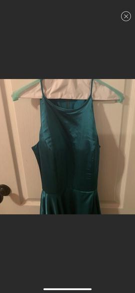 Sherri Hill Blue Size 4 Train Side slit Dress on Queenly