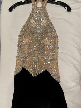 Rachel Allan Black Size 0 Medium Height Backless Straight Dress on Queenly