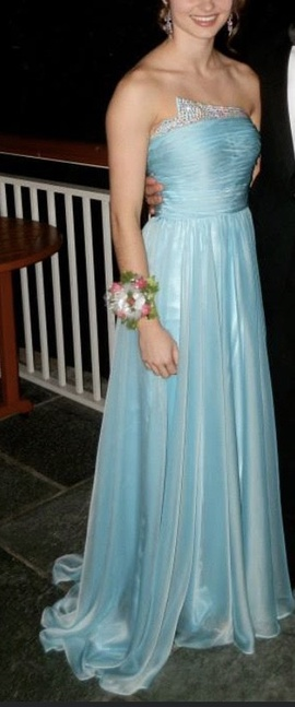 La Femme Blue Size 0 Medium Height Straight Dress on Queenly