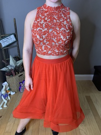 Queenly size 2  Red Train evening gown/formal dress