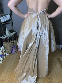 Gold Size 4 Train Dress on Queenly