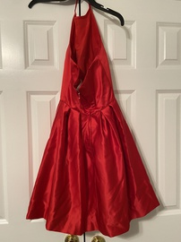 Sherri Hill Red Size 0 Medium Height Backless Cocktail Dress on Queenly