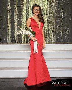 Ashley Lauren Red Size 0 Medium Height Mermaid Dress on Queenly