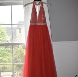 Queenly size 0 Camille La Vie Red Straight evening gown/formal dress