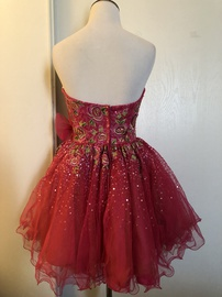 Sherri Hill Pink Size 2 Tulle Mini Strapless Winter Formal Straight Dress on Queenly