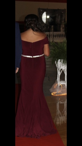 Red Size 12 Side slit Dress on Queenly