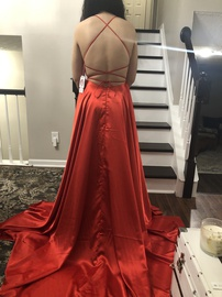 Sherri Hill Red Size 4 Train Dress on Queenly
