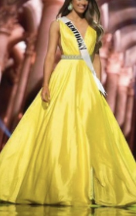 Sherri Hill Yellow Size 0 Ball gown on Queenly